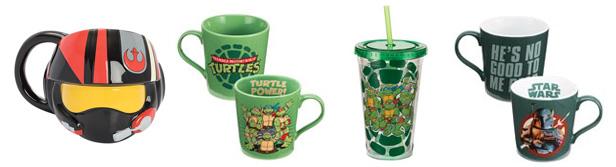 12oz, 18oz and 20oz Ceramic Mug from Star Wars, Teenage Mutant Ninja Turtle