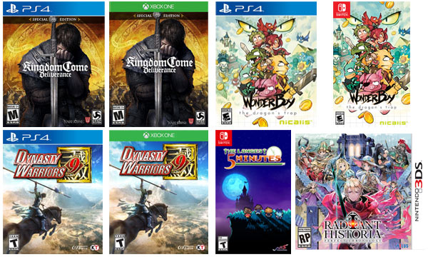 new games shipping this wwek 02-12-2018